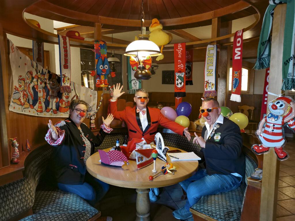 Das Moderatoren-Team des neuen Sendeformates - v.l.n.r.: Tanja Leclaire-Dederichs, Udo Nöllen, Thomas Stolz.